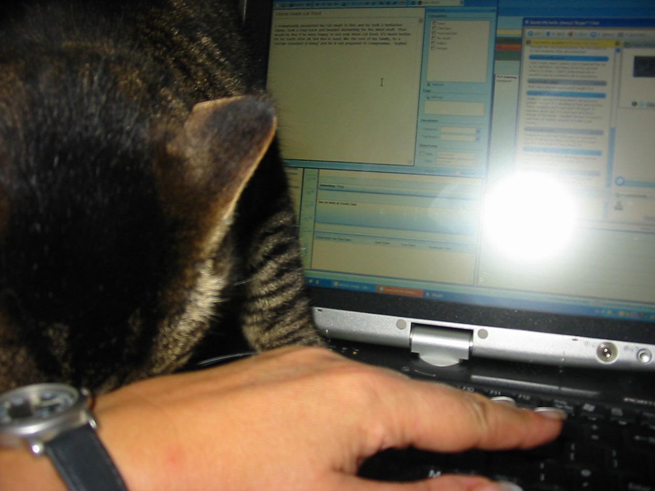 Ben on computer